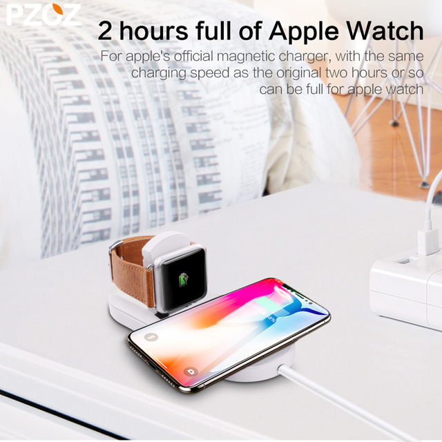 Qi Wireless Dual Fast Charger for iPhone and Watch
