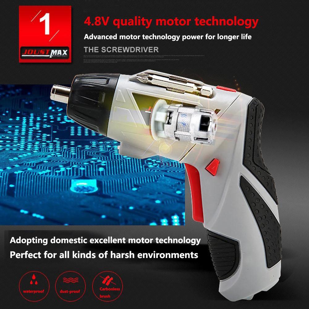 מערכות שמע נייד 4.8V חשמלי מברג מיני מקדחה אלחוטי 45 ביטים אלחוטי Power עם אור LED Dremel DIY רב תפקוד בית כלים Power (5)