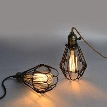 st64エジソン電球アメリカンカントリー工業レストラン寝室玄関パーラーヴィンテージペンダントランプ  鉄ケージペンダントライト