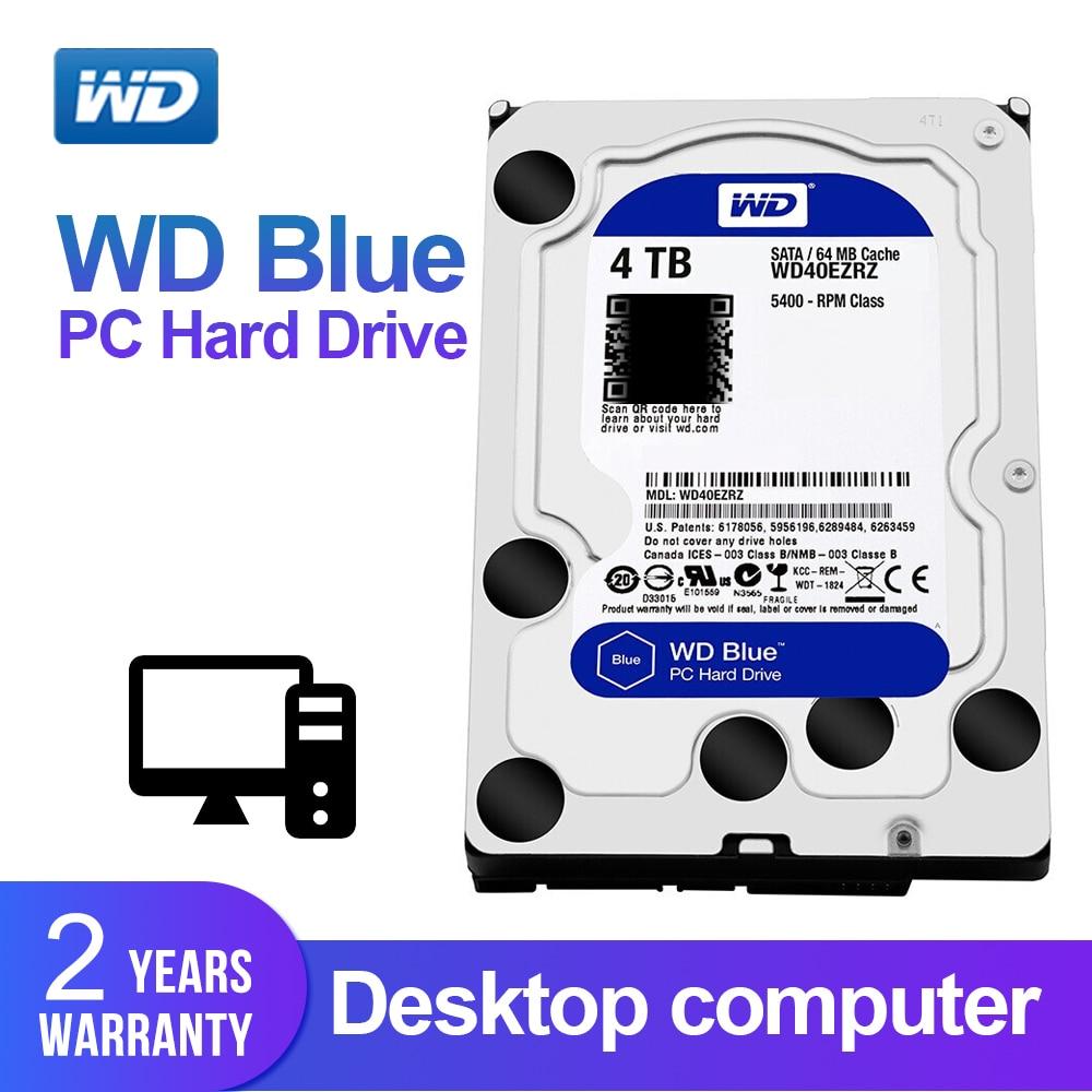 WD Western Digital Azul 4 TB Disco Rígido Interno Sata de 3.5 ''Hdd De Desktop Disco Rígido Disco Rígido Desktop Disque Dur HDD para PC
