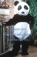 Best Mascot Panda Bear Mascot Costume Adult Size Cartoon Character Carnival Party Cosply Mascotte Mascota Fit Suit Kit SW1059