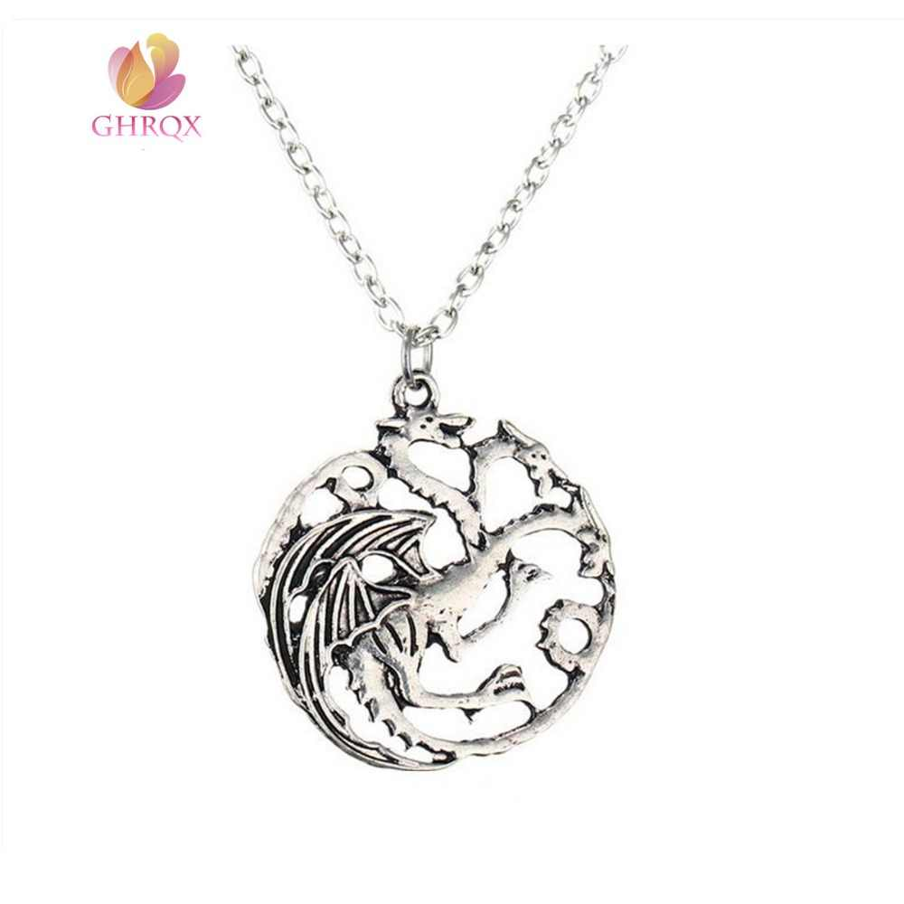 Game of Thrones Fire Dragon Pendant Necklace  Necklace Fashion jewelry  wholesale 1 pcs