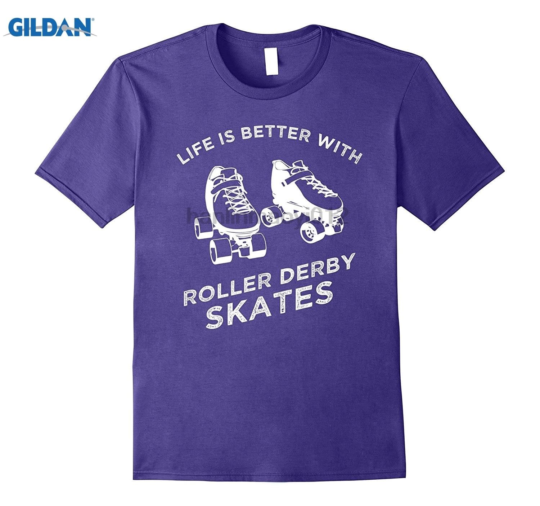 GILDAN Roller Derby T-Shirt, Rolling Skate Rollerderby Skater Tee sunglasses women T-shirt