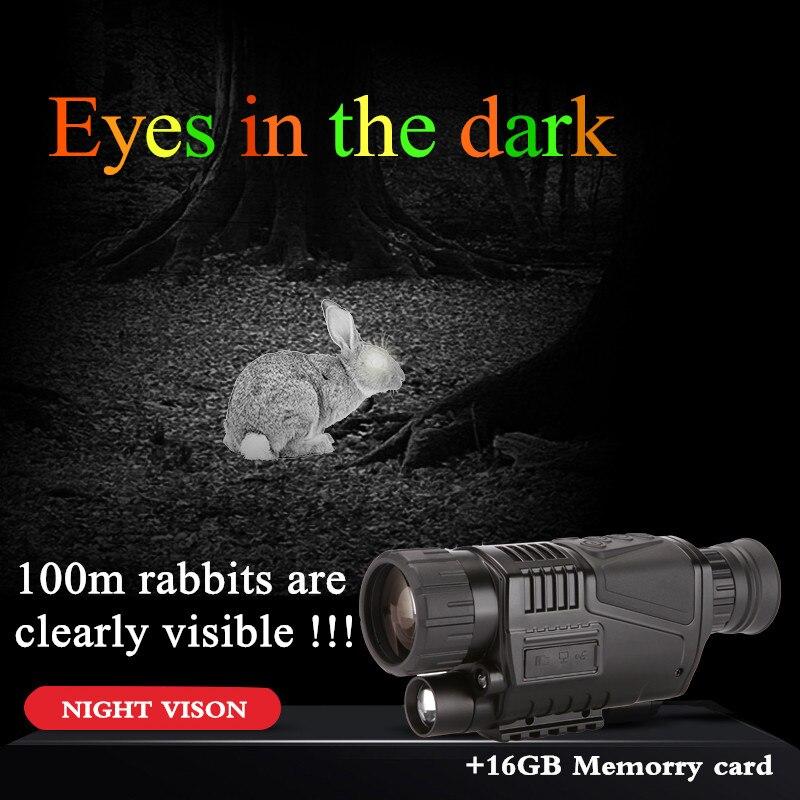 TUOBING 5x40 Infrarouge de Vision Nocturne Télescope Gros Fabricant Monoculaire Puissant HD Numérique Vision 16 gb Memorry carte