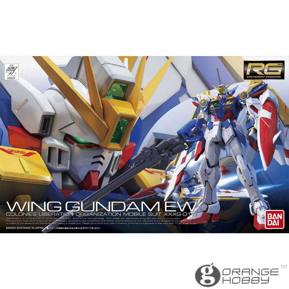OHS Bandai RG 20 1/144 XXXG-01W Wing Gundam EW Mobile Suit Assembly Model Kits oh стоимость