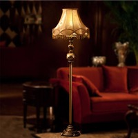 Resin Fabric Lampshade Iron Floor Lamps Led Bulb Lamp E27 110V 220V European Style Living Room