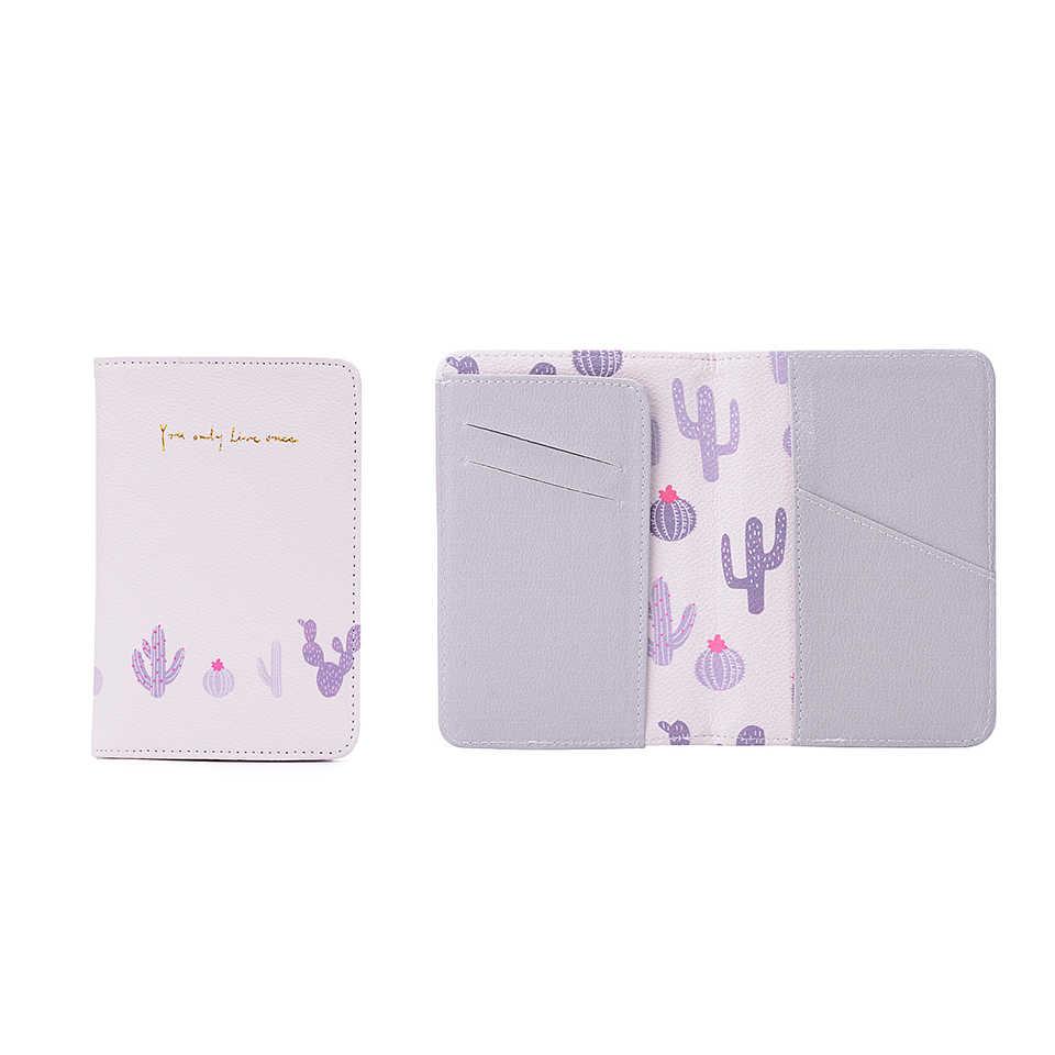 Frauen Leder Passport Abdeckung Cartoon ID Bank Karte halter M Nette Flamingo Passport Fall Halter Reise Sparbuch Mädchen Brieftasche Tasche
