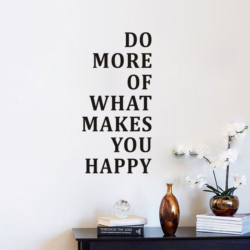 Motivational Quotes Wallpaper Download: Do More Of What Makes You Happy Wall Sticker Inspiring