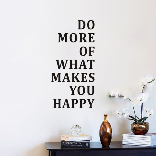Happy Motivational Quotes Do More Of What Makes You Happy Wall Sticker Inspiring Quotes  Happy Motivational Quotes