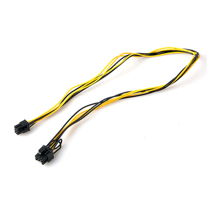 Image 3 - 6 Pin Male to 8 Pin Male PCI Express Power Adapter Cable for Graphics Video Card 6Pin to 8Pin PCI E Power Cable 70CM