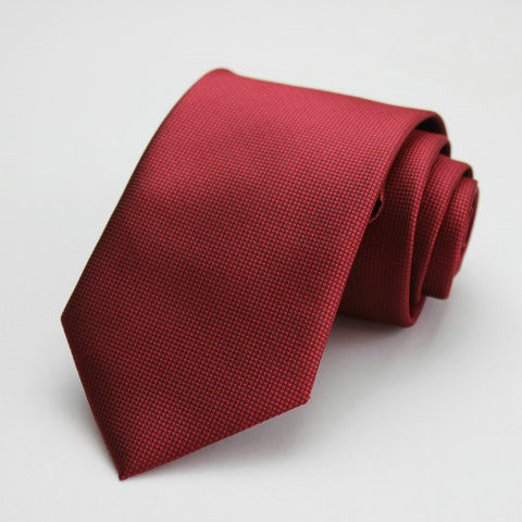 Free Shipping Cheap South korean silk commercial formal tie marriage tie plaid tie 8cm tie red fine plaid