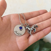 Unicorn Necklace Magical Licorne Women Jewelry Engraved Birthstone Necklace Custom Made Any Name Date Drop shipping YP0072 цена и фото