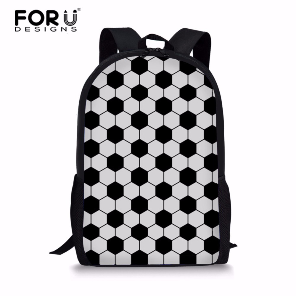 FORUDESIGNS Newest Design Footballs School Bags For Primary Satchel Soccer High capacity Book Bag For Children Mochilas Bookbag