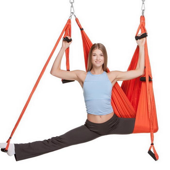Anti-Gravity Aerial Yoga Hammock Pilates Aerial Flying 200 Kg Gym, Home, Random Swing Traction Equipment