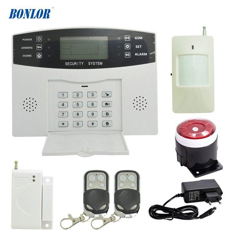 HOMSECUR GSM 433MHz LCD Screen Alarm Kit with Wireless Smoke /& PIR /& Door Sensor
