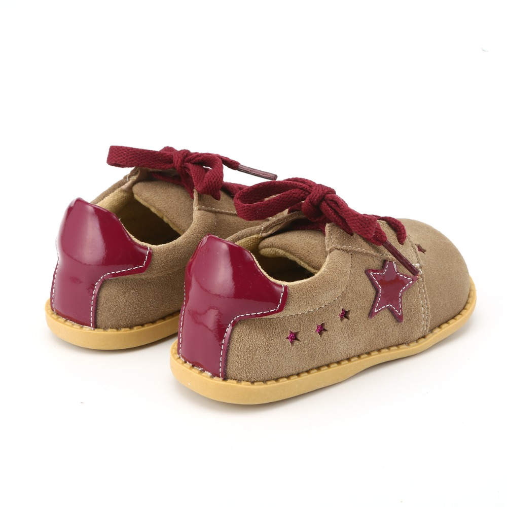 Image 2 - Tipsietoes New Designs Girls Fashion Shoes 2 Colors Genuine Leather  Handmade Children  Kids Sneakers-in Leather Shoes from Mother & Kids