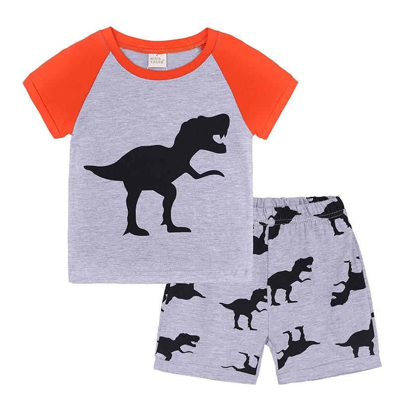 Boys Girls Kids Jurassic World Pyjamas Shorts Nightwear PJS Dinosaur Cotton
