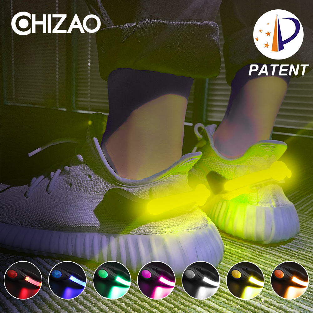 LED Luminous Shoe Clip Outdoor Bicycle LED Luminous Night Running Shoe Safety Clips Cycling Sports Warning Light Safety Patent