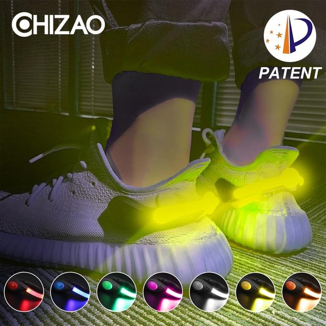 LED Leucht Schuh Clip Outdoor Fahrrad LED Leucht Nacht Laufen Schuh Sicherheit Clips Radfahren Sport Warnung Licht Sicherheit Patent