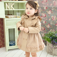 Anlencool Free shipping 2019 baby girls fall and winter clothes new Korean foreign trade thick coat children dress baby clothing