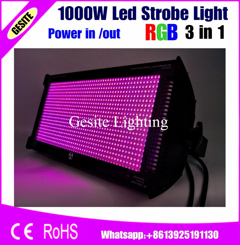 2pcs/lot Free shipping 2 Unit RGB Led 1000W Strobe Bar Stage Lighting Same White Light for Xmas party concert stage