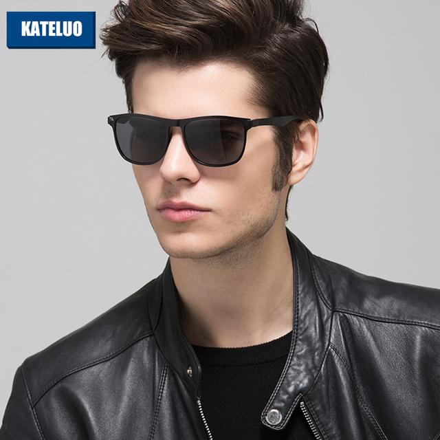 KATELUO Óculos De Sol Dos Homens de Design Da Marca Al-Mg Alloy Frame Polarized Lens Óculos Eyewears Acessórios oculos de sol óculos de Sol Motorista 8586