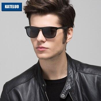 KATELUO 2020 Platz Designer Sonnenbrille Männer Polarisierte UV400 Objektiv Fahrer Sonnenbrille für Männer Eyewears Zubehör 8586
