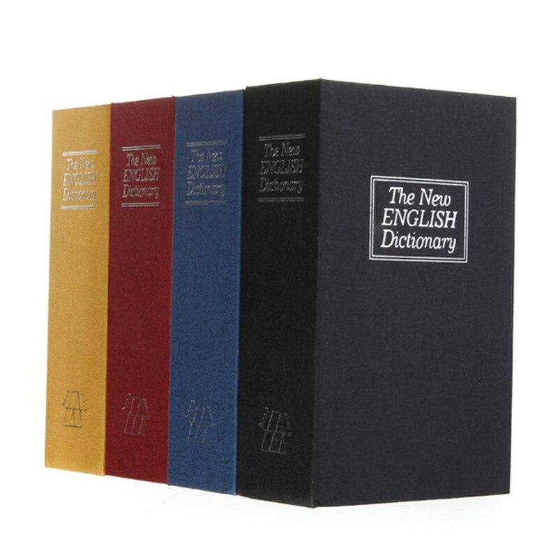 Kleine Größe Sicherheit Simulation Wörterbuch Buch Fall Hause Cash Money Schmuck Locker Geheimnis Safe Storage Box mit Schloss