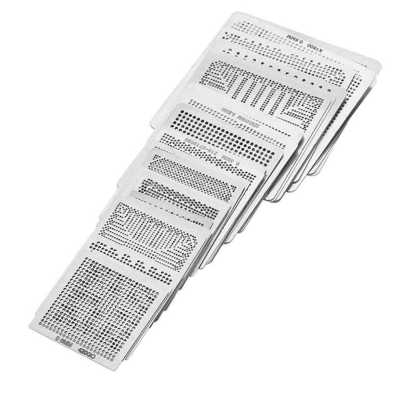 33 шт. BGA универсальная перепайка чипов паяльная сетка трафареты стальной шаблон сетка непосредственно набор тепла