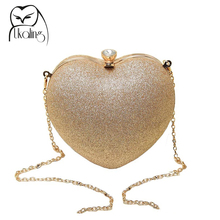 02f27c91f6 UKQLING Brand Hart Pattern Evening Bags Day Clutch Evening Bag Women Crystal  Bags Clutches Chain Shoulder