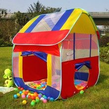 купить New Kids Play House Tent Portable Foldable Prince Folding Tent Children Boy Castle Cubby Play House Kids Gifts Outdoor Toy Tents дешево