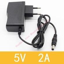 цена на 1PCS 5V2A New AC 100V-240V Converter Adapter DC 5V 2A 2000mA Power Supply EU Plug DC 5.5mm x 2.1mm
