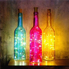 Светодио дный светодиодный медный струнный свет для бутылки Свадебный декор стекло ремесло Бутылка пробка DIY День Рождения Вечеринка поставки рождественские огни на открытом воздухе