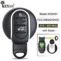 KEYECU Model: IDGNG1 315/ 433MHz FCC ID:NBGIDGNG1 Smart Remote Car Key Fob for BMW Key Mini Copper 2016 2017 IC:2694A IDGNG1