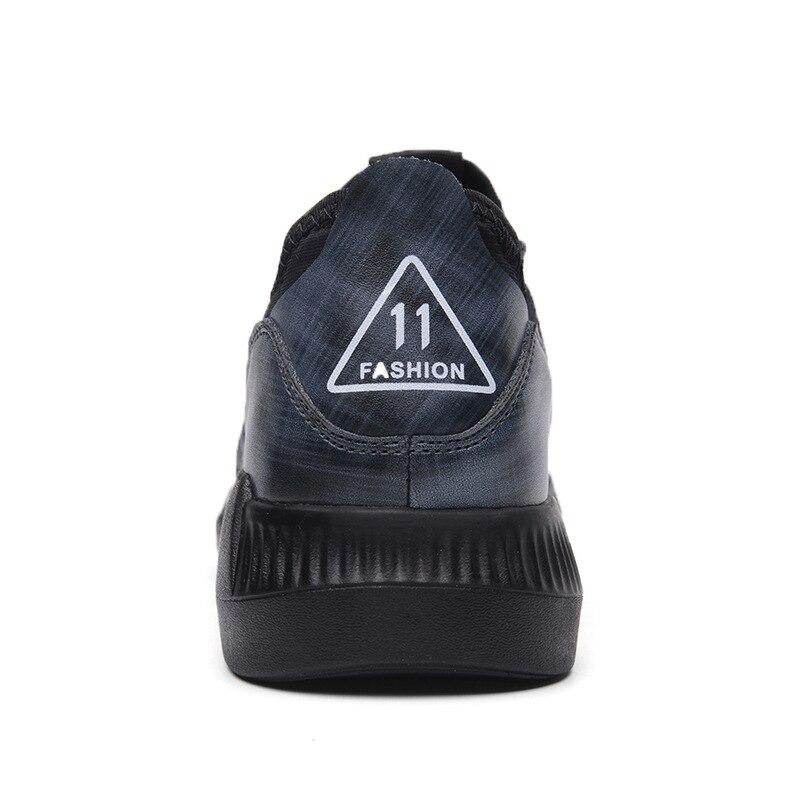 En Noir Plein Nouveaux Pour bleu Hommes Casual Automne Britannique 2018 Cuir Véritable Mode Chaussures De Air Lacets Style 4j5ALq3R
