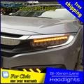 Estilo do carro lâmpada de cabeça para honda civic 10 faróis 2015-2016 led farol original acessório luz da frente todos os led luzes
