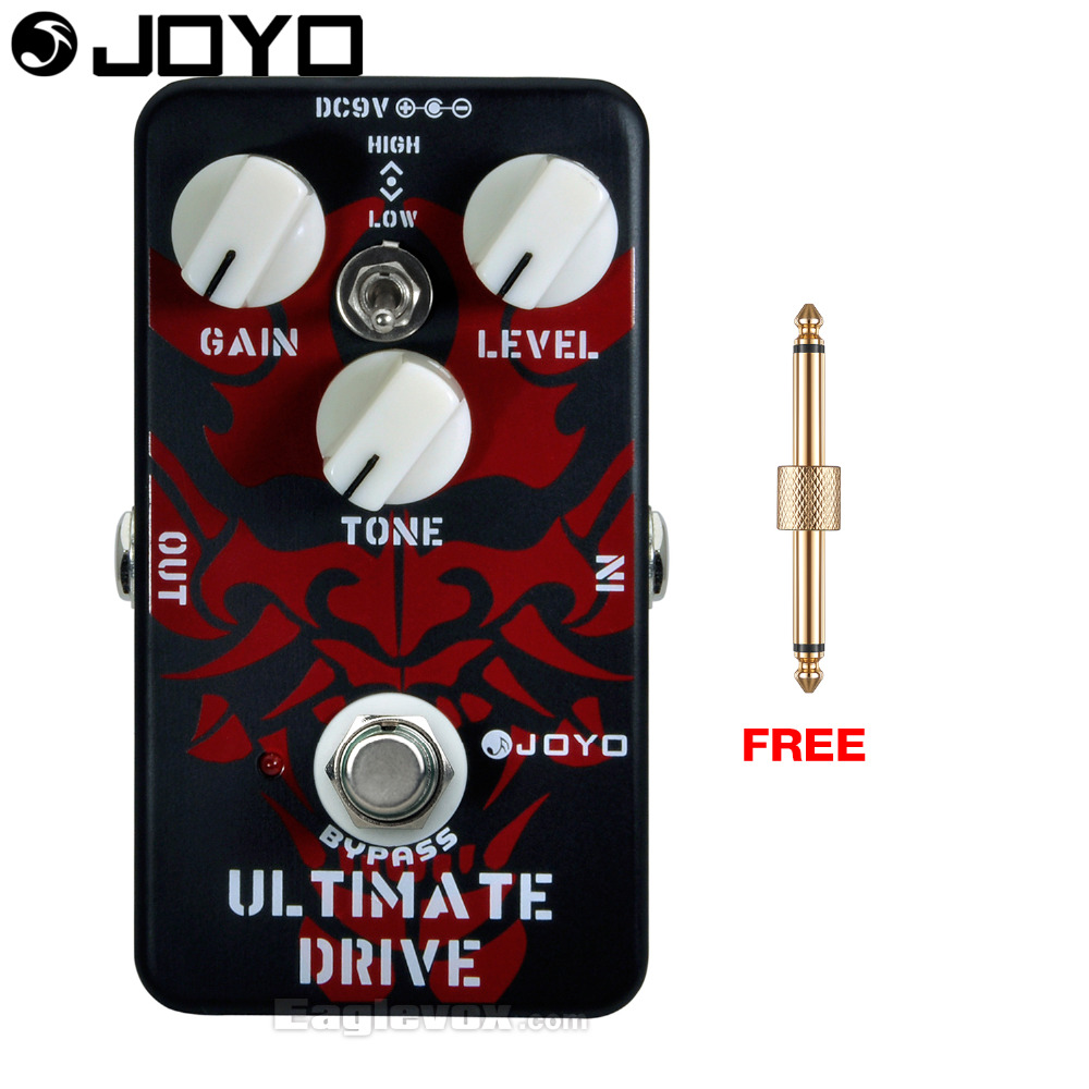 Joyo Ultimate Drive Electric Guitar Effect Pedal True Bypass JF-02 with Free Connector аксессуары для гитары ultimate jf 02 joyo jf 02
