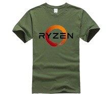 PC CP Uprocessor AMD RYZEN T Shirt geek programmer tees Gaming camiseta font b Computer b