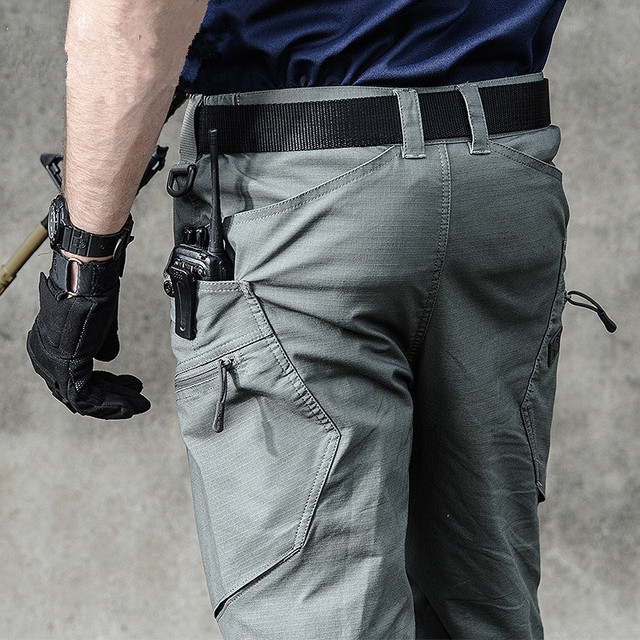 de01dba39cc1 Tactical Pants Male Camo Jogger Casual Waterproof Overalls Cotton Trousers  Multi Pocket Military Style Army Men s Cargo Pants