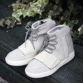 2017 Nueva Primavera Otoño Tobillo Botas los hombres zapatos de la marca de lujo de Cuero los hombres de alta superior Zapatos Casuales zapatos de los planos Zapatos Rojos Para Los Hombres