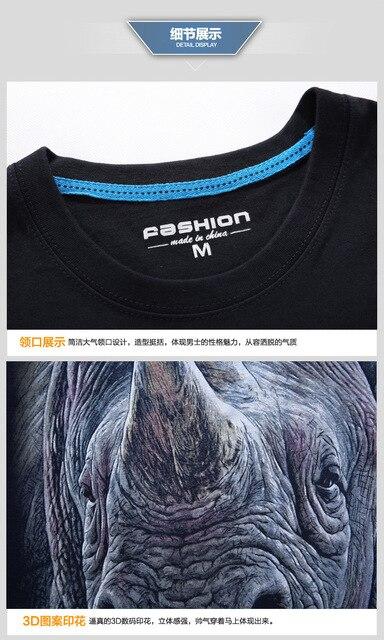2017 summer Men's animal T-Shirt orangutan/gas monkey/Wolf 3D Printed T-Shirts Men Funny tees tops tee shirt large size 5