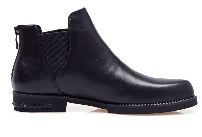 AMSHCA/Мужская Повседневная зимняя обувь из флока; теплые плюшевые зимние ботинки для мужчин; мужские ботильоны на плоской подошве со шнуровко... - 2