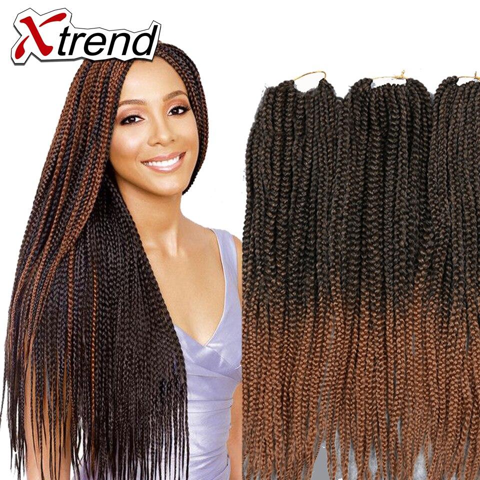 22 box braids hair extensions synthetic ombre kanekalon
