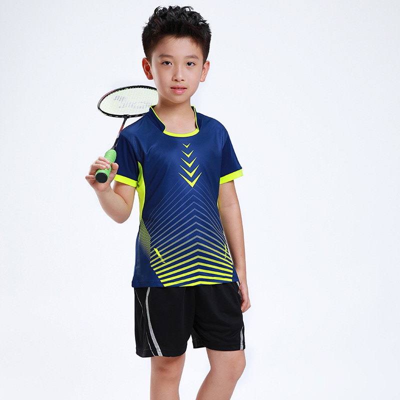 Free Printing Children Badminton clothes Boy , Girl sports Tennis tracksuit , kids Badminton set , Tennis suit AF003