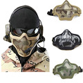 Lower Half  Face Metal Steel Net Mesh Masks Outdoor Hunting Tactical Masks CS  Paintball Airsoft  Protective Masks Adjustable