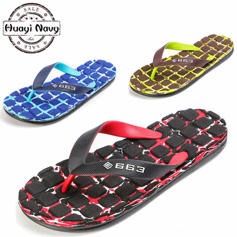 2019 mannen Zomer Platte Indoor Massage Slippers Mannen Thuis antislip Massage Slippers Zapatos Hombre Strand Slippers heren Slides