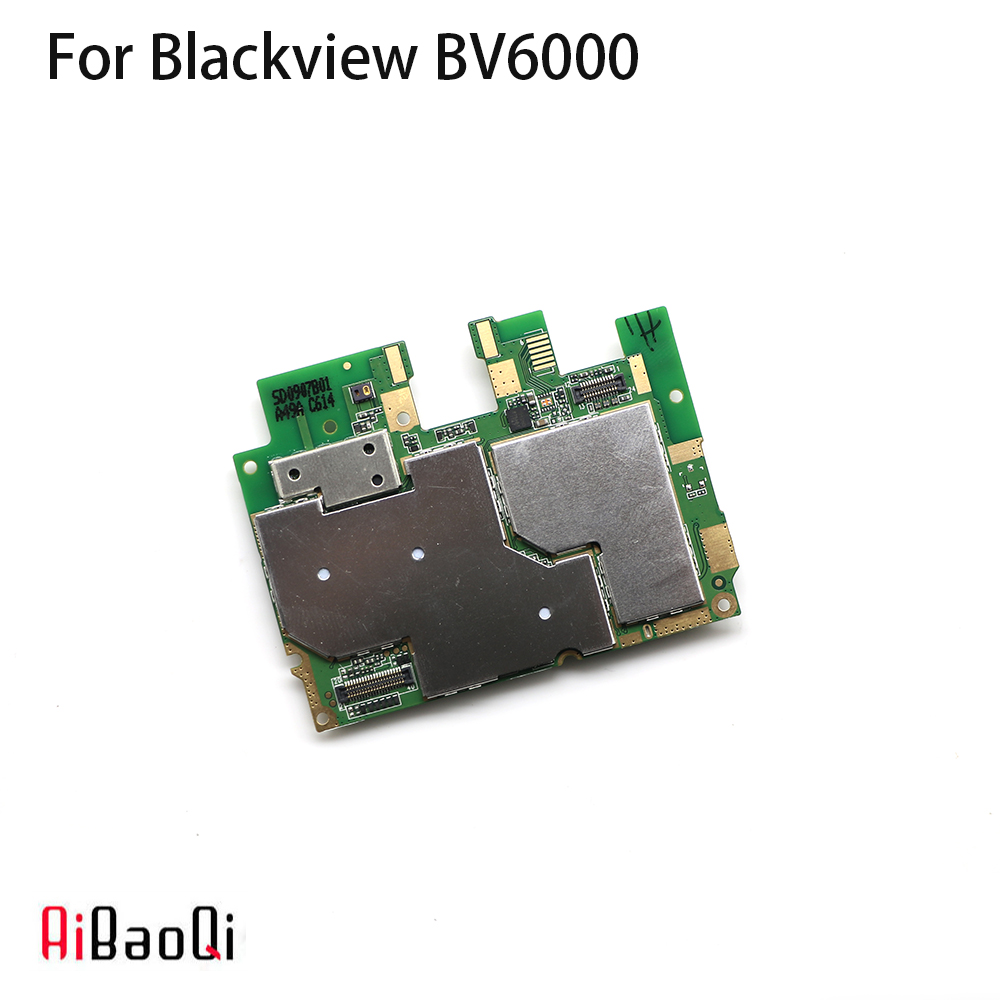 AiBaoQi New Original mainboard 3G 32G ROM Motherboard flex cable board for Blackview BV6000 Android 7