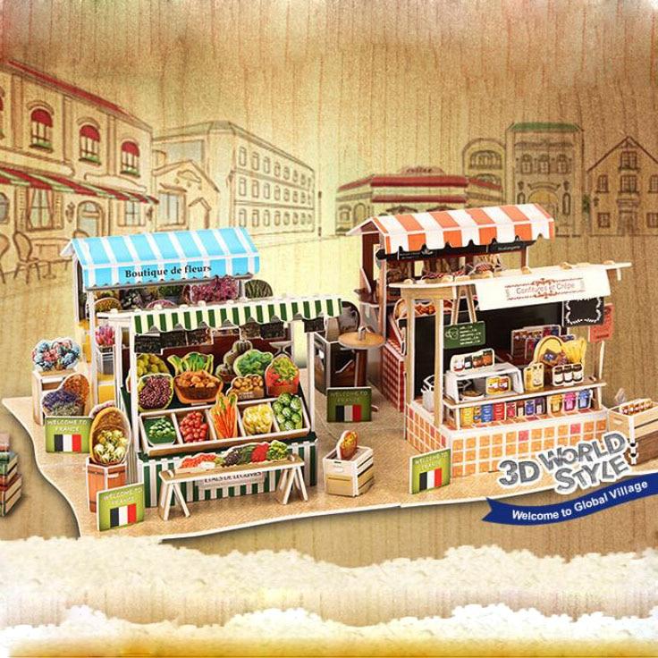 3D papir kuća zagonetka za djecu smiješno 3d zagonetke DIY djeca - Igre i zagonetke - Foto 6