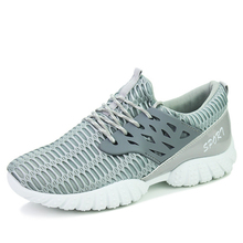 Men's Fashion Mesh Breathable Walking Shoes Outdoor Cushioned Walking Shoes Summer Lace Up Low Top Leisure Shoes for Male