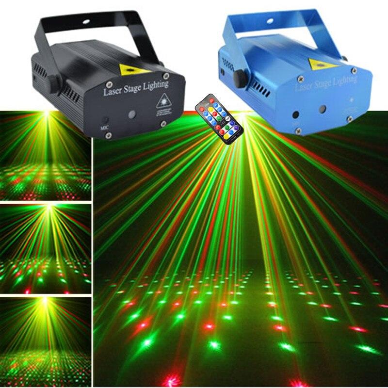 AUCD Mini Portable RG Projecteur Laser Lumières DJ Accueil Xmas Party Spectacle de Vacances Éclairage de Scène OI100